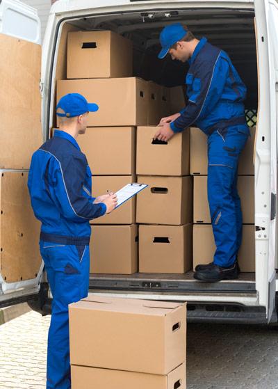 Removals Men Loading a Van, moving house.