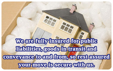 Full insured removals service